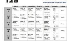 Michelle Is Living Well: Focus T25 Workout Calendar | T25