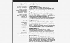 Microsoft Word 2010 Functional Resume Template – Resume
