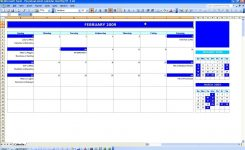 Monthly Event Calendar » Exceltemplate