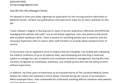 Cover Letter Templates For Nursing Resumes