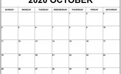October 2020 Calendar Pdf, Word, Excel Template 2 | Calendar