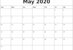 May October 2020 Calendar Online