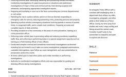 Police Officer – Resume Samples And Templates   Visualcv
