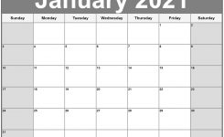 Printable Calendar Pages 2021 Monthly For Scheduling The
