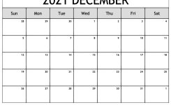 Printable December 2021 Calendar In 2020 (With Images