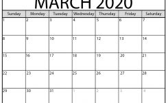 Printable March 2020 Calendar – Beta Calendars