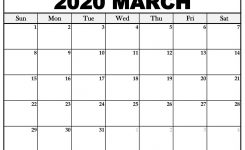 Printable March 2020 Calendar – Towncalendars