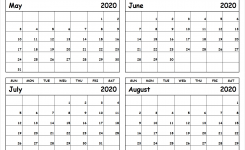 Printable-May-To-August-2020-Calendar – All 12 Month