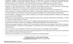 Production Manager Sample Resumes, Download Resume Format