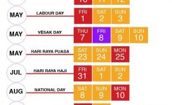 Public & School Holidays Singapore 2020 & 2021 (20 Long