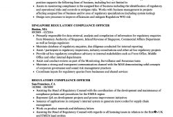 Sample Resume For Compliance Officer