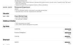 Restaurant Resume: Sample And Complete Guide [+20 Examples]