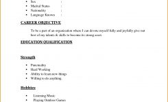 Resume ~ Basic Resume Examples Samples Example Document And