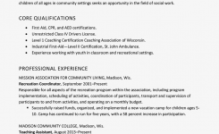 Resume Example For Childcare / Social Services Worker