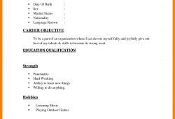 How To Do A Simple Resume