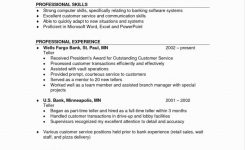 Resume Sample: Bank Teller Resume Sample For Jobs Best Of