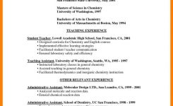 Resume Sample: Samples Of Resumes For Teachers