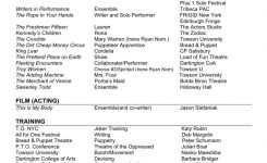 Resume Sample: Student Actor Resume Template Free Acting