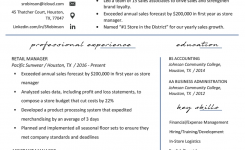 Retail Manager Resume Example & Writing Tips   Rg