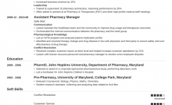 Sample Pharmacist Resume Template & Guide (20+ Examples