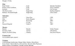 Sample Resume #actingresume | Acting Resume Template, Acting