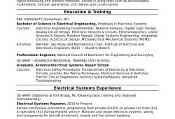 Professional Resume Electrical Engineering