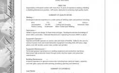 Sample Resume For Welding Position | Sample Building