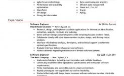 Software Engineer Resume Template For Microsoft Word