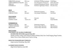 Acting Resume Template Word Microsoft