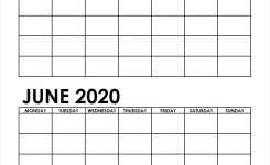Two Month May June 2020 Calendar Blank   Two Months Template