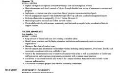 Victim Advocate Resume Samples | Velvet Jobs