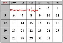 Free Printable Monthly Calendar 2020 For All Months