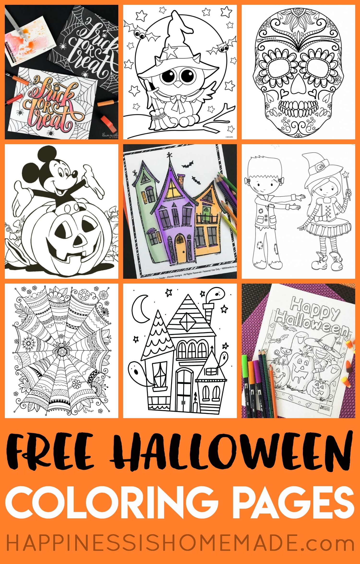 20 Coloring Pages Halloween