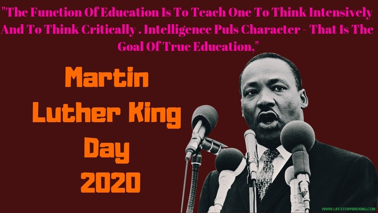 Martin Luther King Day In 2020 | Life Story: Blogging Tip's
