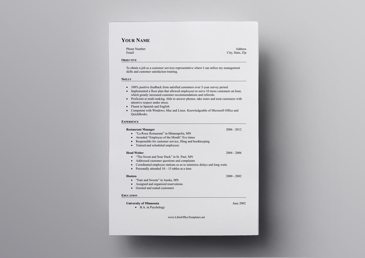 Resumes Templates For Mac Office