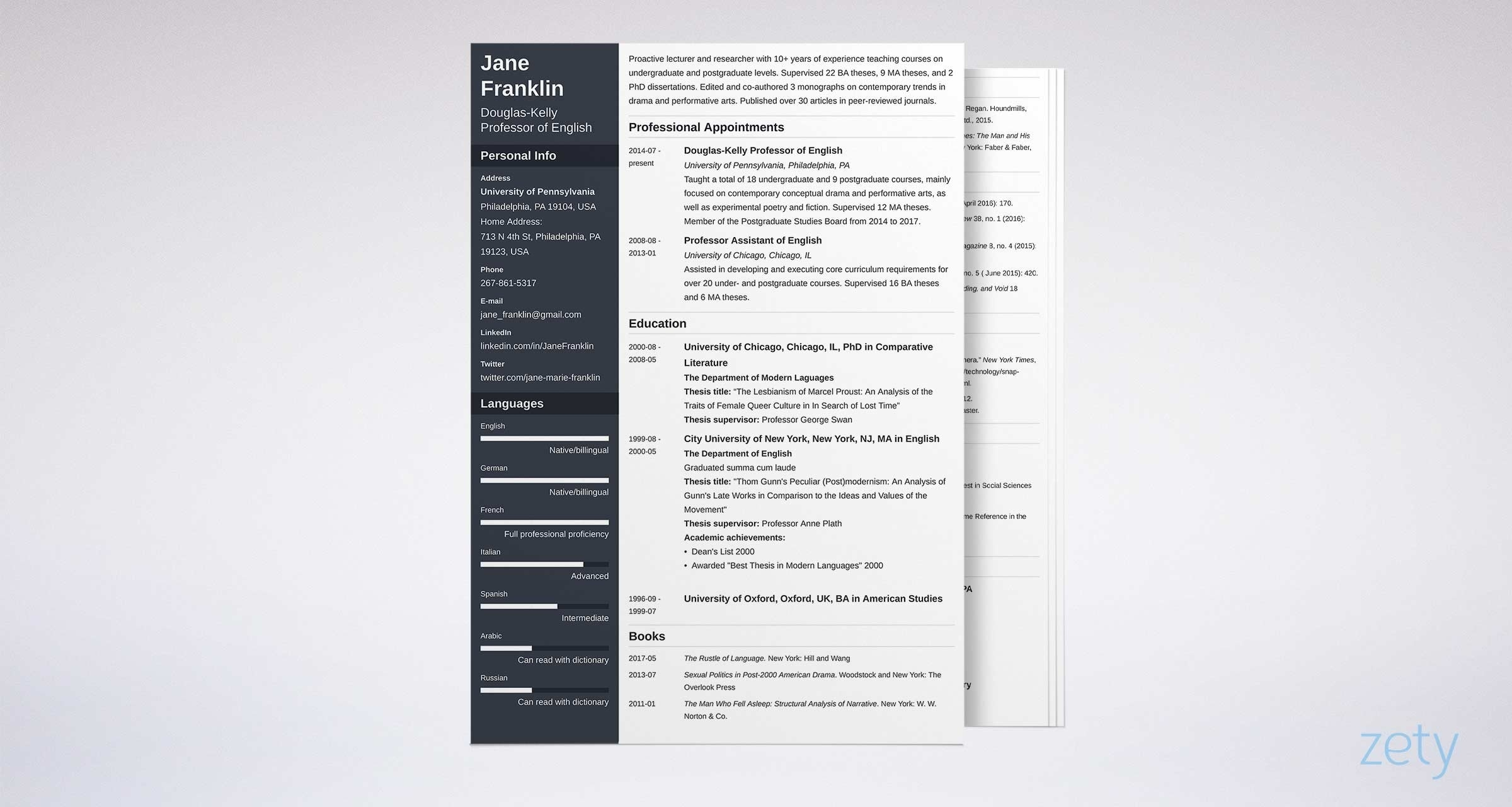 Academic (Cv) Curriculum Vitae: Template, Examples & Guide