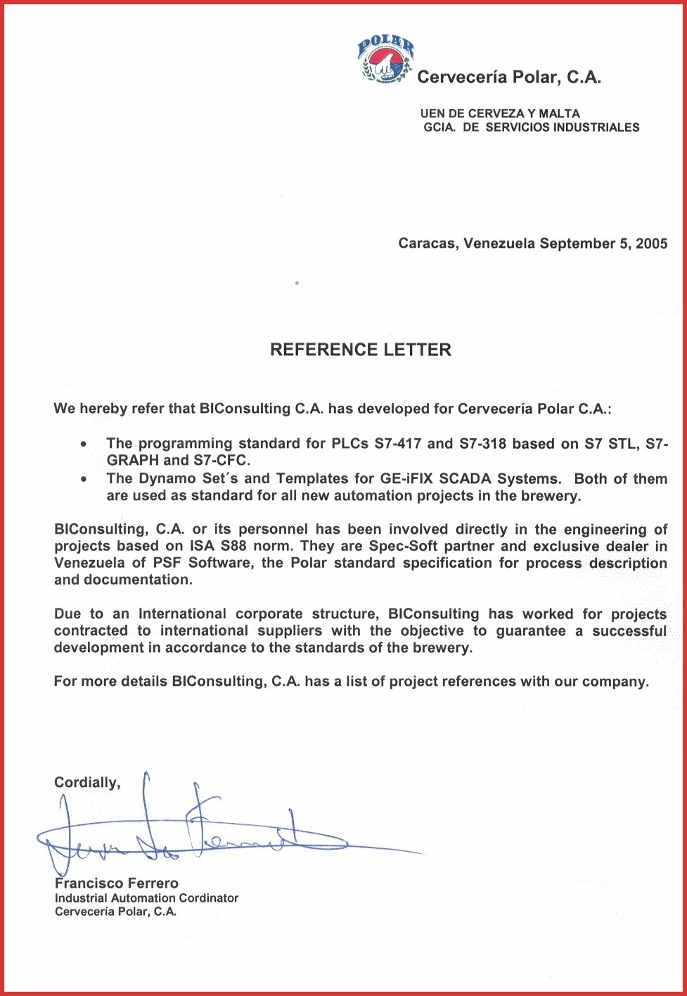 Reference Letter Template Open Office