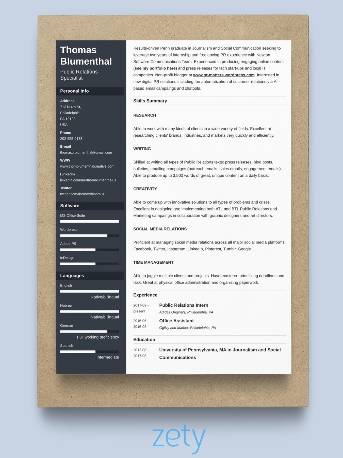 Good Resume Format For Experienced