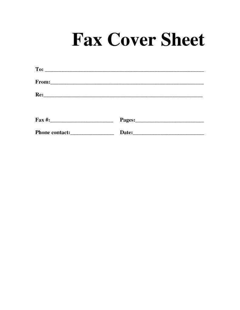 Fax Cover Letter Example Resume