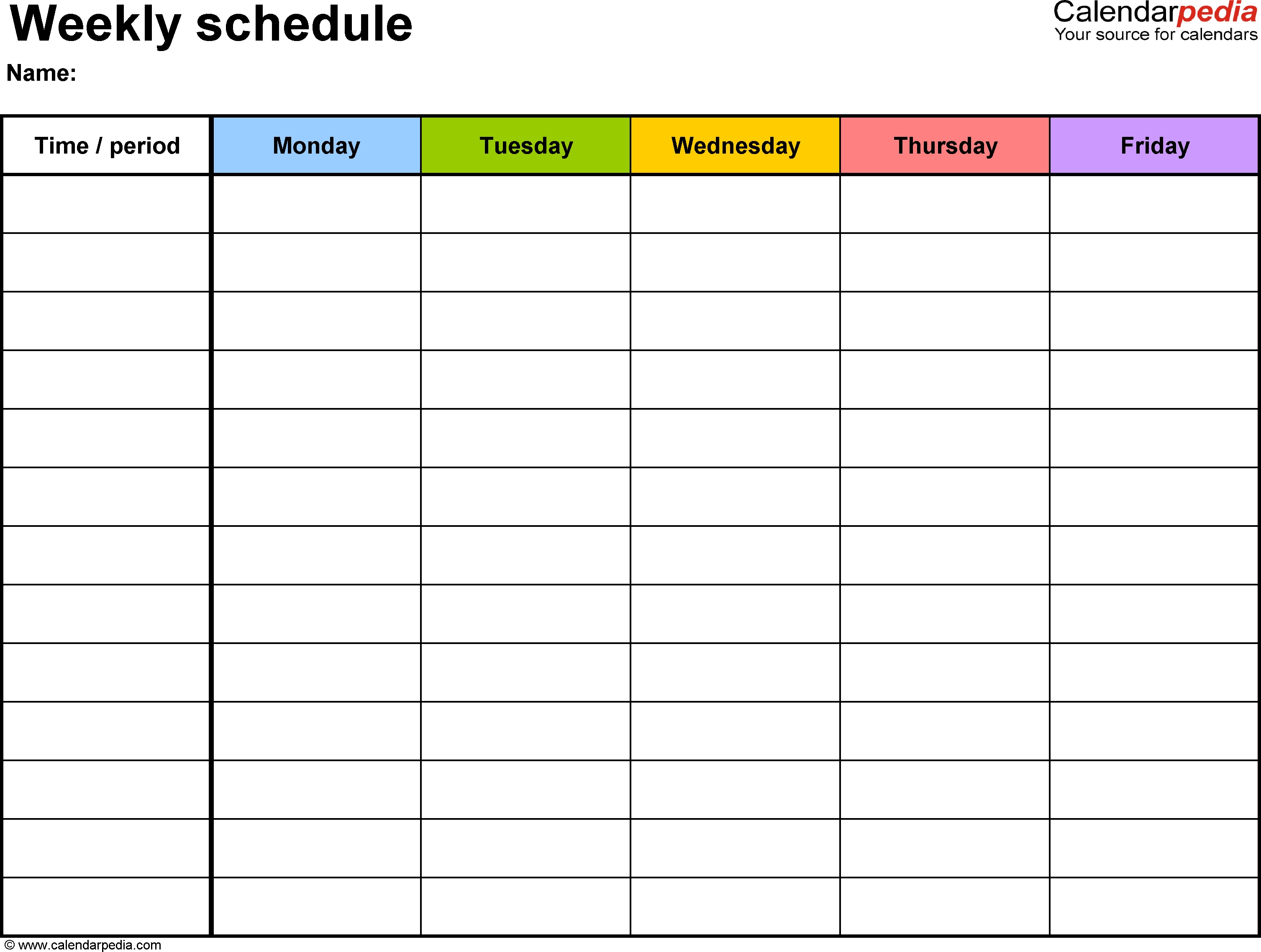 Monthly Weekly Planning Calendar Free