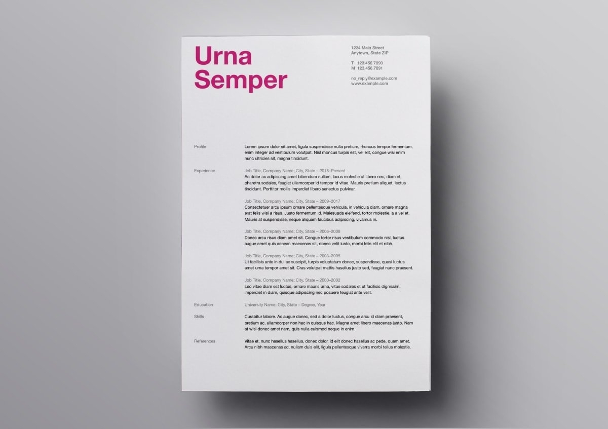 Resume Cover Page Template Mac