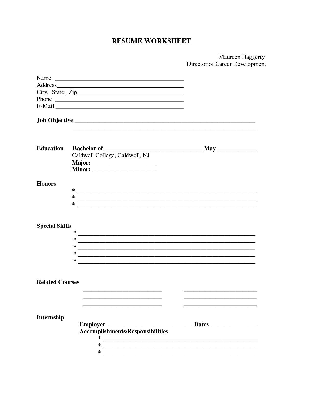 Pinresumejob On Resume Job | Free Printable Resume, Free