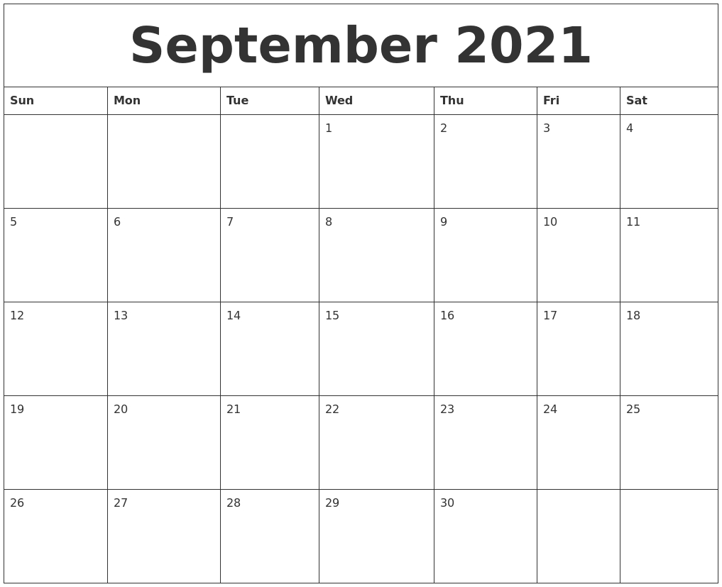 September 2021 Calendar With Notes | Avnitasoni