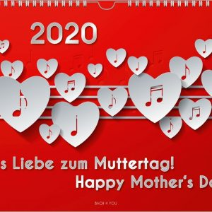 """The Music Calendar """"happy Mother's Day!"""" 2020 - 2, Din A4"""