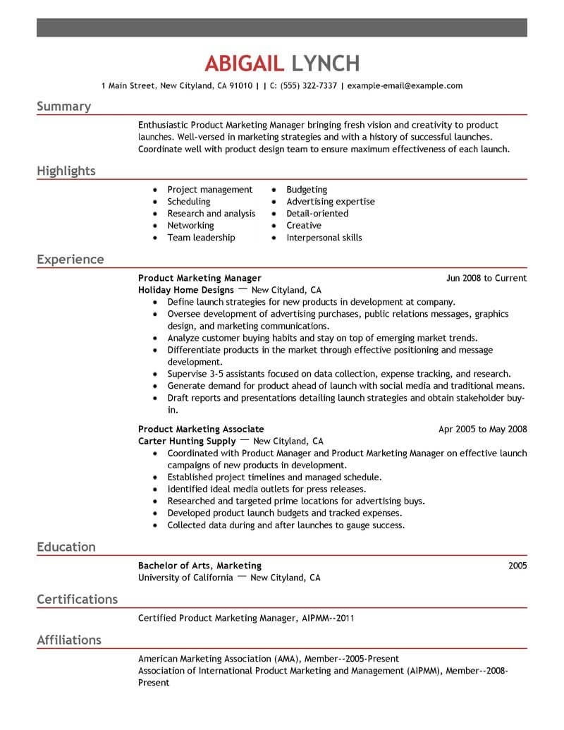 Mba Candidate Resume