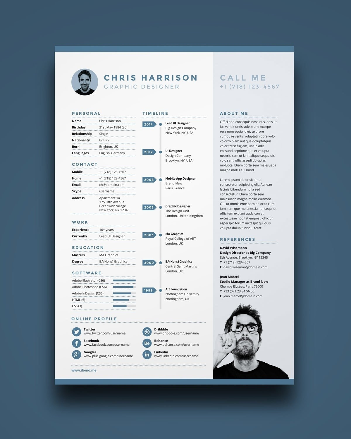 Indesign Resume Samples