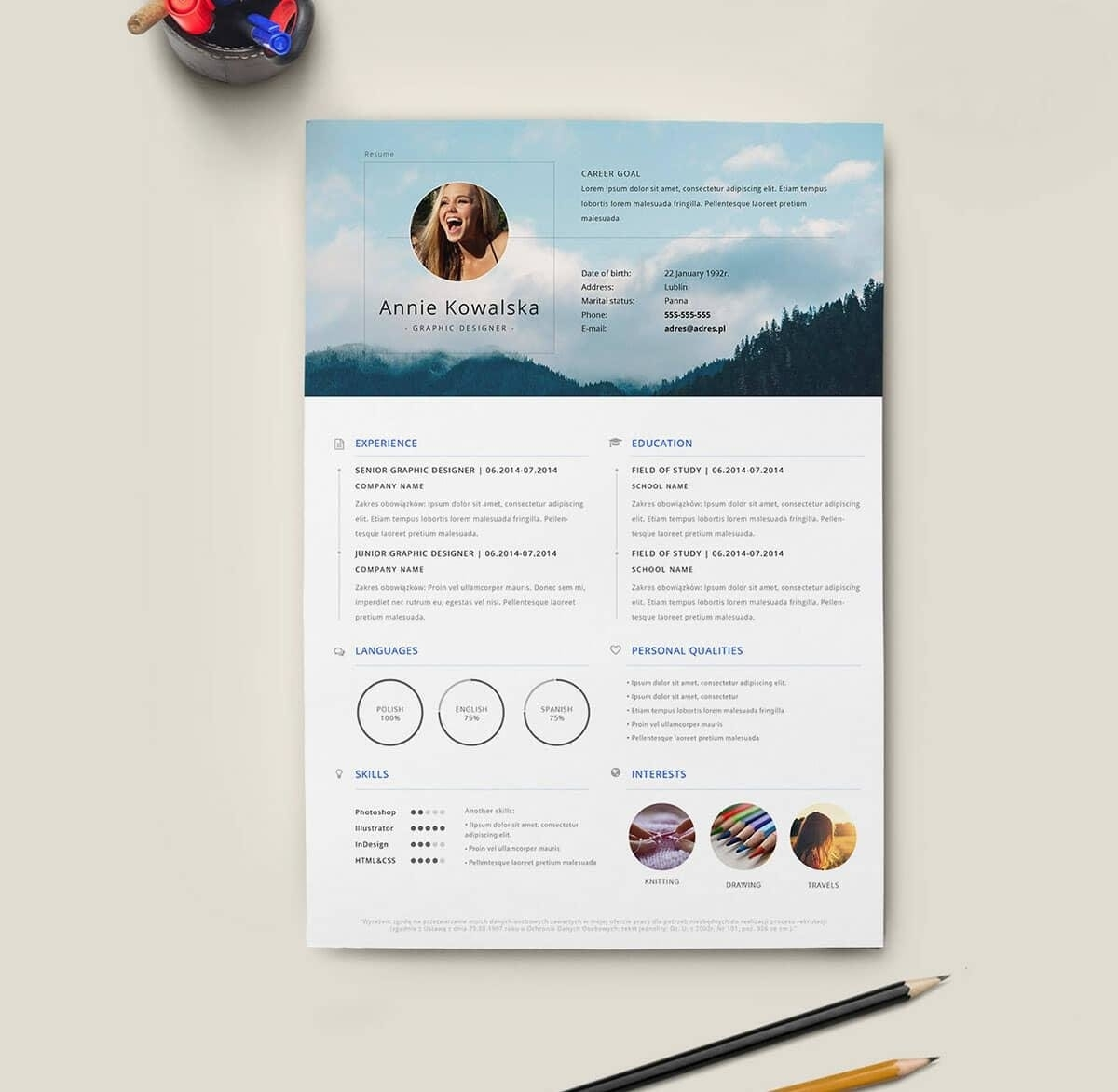 Free Creative Resume Template Downloads