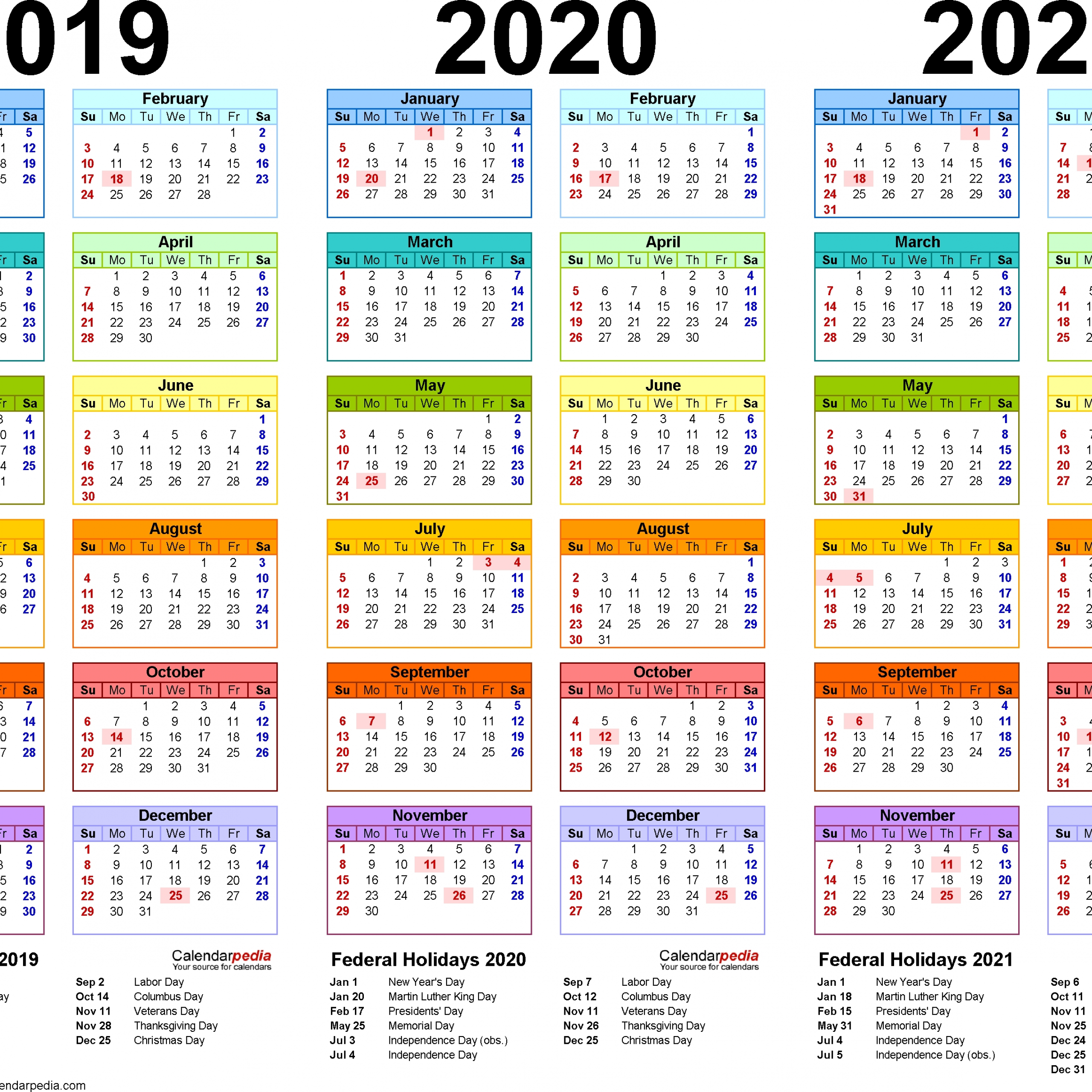 A4 Calendar 2021 Full For Important Notes
