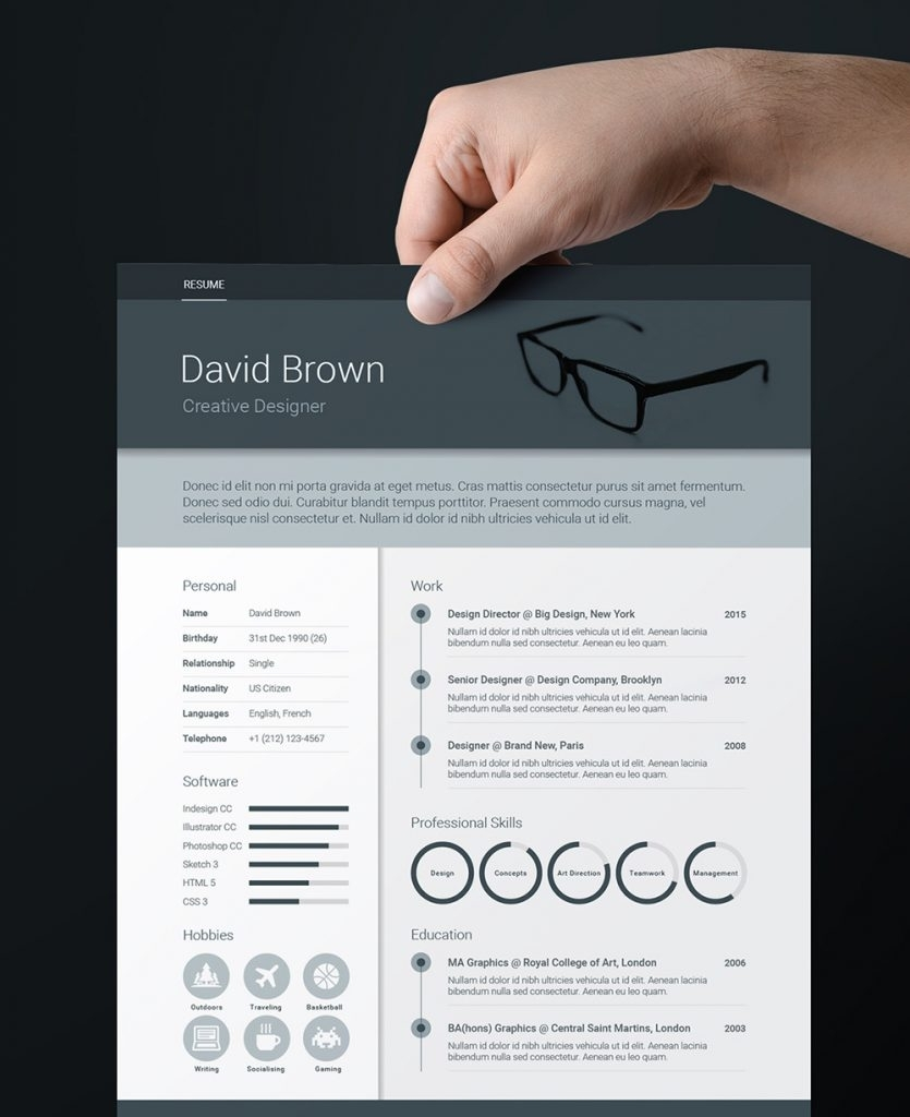 Indesign Resume Template 2015
