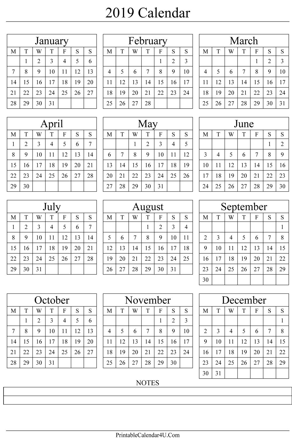 Printable Yearly Calendar 2021 Colorfull For All Genre